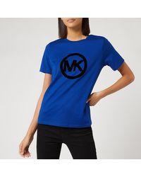 MICHAEL Michael Kors Circle Logo Flock T-shirt - Blue