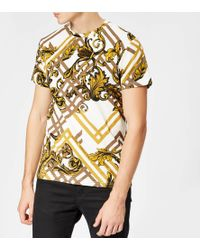Versace Jeans - All Over Print T-shirt - Lyst