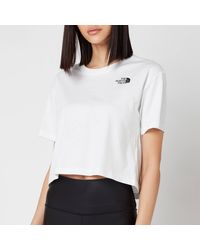The North Face Cropped Simple Dome Short Sleeve T-shirt - White