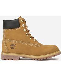 Timberland 6 Inch Premium Ladies Waterproof Boots - Brown