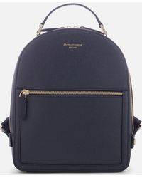Aspinal of London Mount Street Small Backpack - Blue