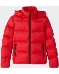 Calvin Klein Mw Shiny Short Puffer - Red