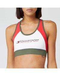 Tommy Sport Blocked Mid Support Bra - Multicolour