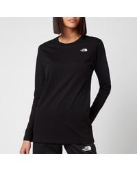 The North Face Simple Dome Long Sleeve T-shirt - Black