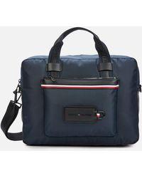Tommy Hilfiger Modern Nylon Computer Bag - Blue