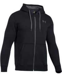Under Armour - Rival Fitted Full Zip Hoody - Lyst