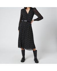 MICHAEL Michael Kors Circle Logo Shirt Dress - Black