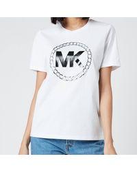 MICHAEL Michael Kors Elv Ht Chain Logo T-shirt - White