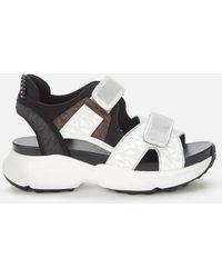 MICHAEL Michael Kors Harvey Chunky Sandals - White