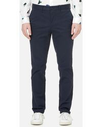 Michael Kors - Slim Fit Stretch Brushed Cotton Chinos - Lyst