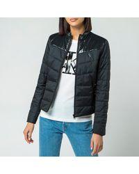Calvin Klein Jeans Padded Moto Jacket - Black