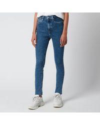 Calvin Klein High Rise Skinny Jeans - Blue