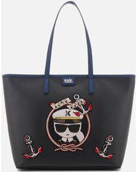 Karl Lagerfeld   Women's Captain Karl Shopper Bag   Lyst