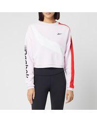 Reebok Myt Colourblocked Cropped Sweatshirt - Pink