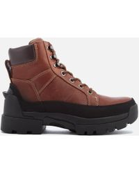 HUNTER - Field Lace Up Boots - Lyst