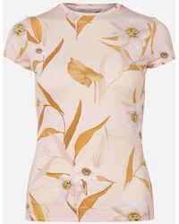 Ted Baker Juliay Cabana Jersey Fitted T-shirt - Pink