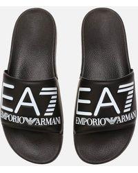 EA7 Sea World Slide Sandals - Black