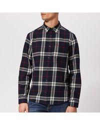Jack Wills Langworth Flannel Shirt - Blue