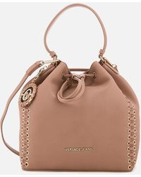 Versace Jeans - Whip Stitched Bucket Bag - Lyst