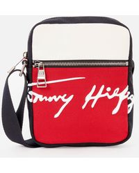 Tommy Hilfiger Signature Mini Reporter Bag - Red