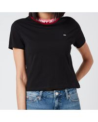 Tommy Hilfiger Tjw Branded Rib T-shirt - Black