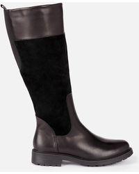 Clarks Orinoco 2 Hi Leather/warm Lined Knee High Boots - Black