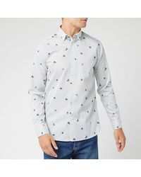 Ted Baker Richrd Floral Geo Print Shirt - White
