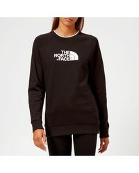 The North Face Redbox Long Sleeve Crew Neck Sweatshirt - Black