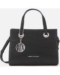 Armani Exchange Angie Small Tote Bag - Black