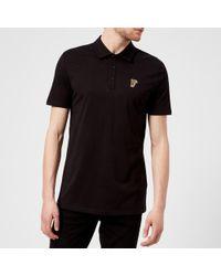 Versace - Small Logo Polo Shirt - Lyst