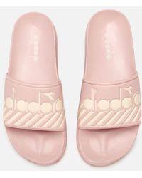 Diadora Serifos 90 Wide Barra Slide Sandals - Pink