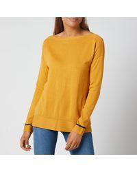 Joules Vivianna Knitted Sweatshirt - Yellow
