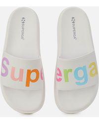 Superga 1919 Puw Slide Sandals - White
