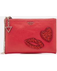 Guess - Ever After Cross Body Clutch Bag - Lyst