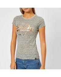 Superdry - Vintage Logo Aop Burn Out Entry T-shirt - Lyst