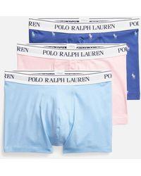 Polo Ralph Lauren Classic 3-pack Trunks - Blue