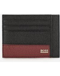 BOSS Signature Card Holder - Black