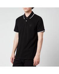 Armani Exchange Tipped Polo Shirt - Black