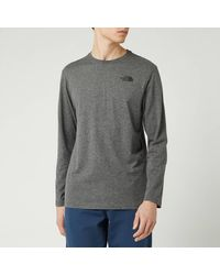 The North Face Long Sleeve Red Box T-shirt - Grey