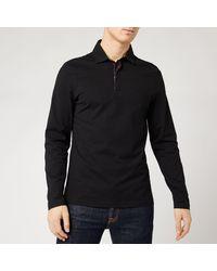 Barbour Dunnet Long Sleeve Polo Shirt - Black