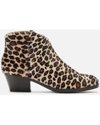 Clarks Mila Myth Pony Heeled Ankle Boots - Brown
