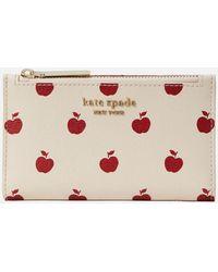 Kate Spade Apple Small Slim Bifold Wallet - Pink