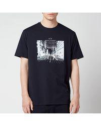 Armani Exchange Photo Logo T-shirt - Blue