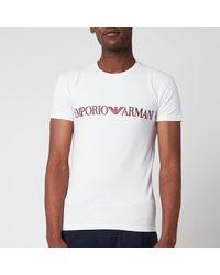 Emporio Armani Megalogo Crew Neck T-shirt - White
