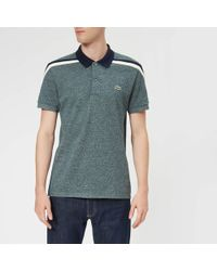 Lacoste - Made In France Shoulder Tape Polo Shirt - Lyst