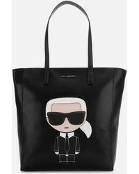 Karl Lagerfeld K/ikonik Soft Tote Bag - Black