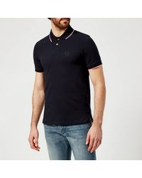 Armani Exchange Tipped Polo Shirt - Blue