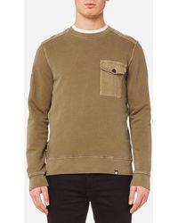 Pretty Green - Trebeck Crew Neck Sweatshirt - Lyst
