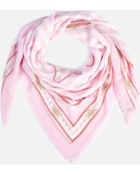 Tommy Hilfiger Th Stripe Square Scarf - Pink