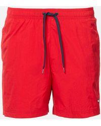 Tommy Hilfiger Small Logo Swim Shorts - Red